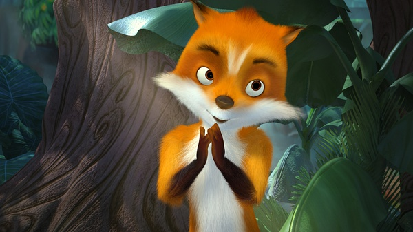 《兔子镇的火狐狸》电影海报