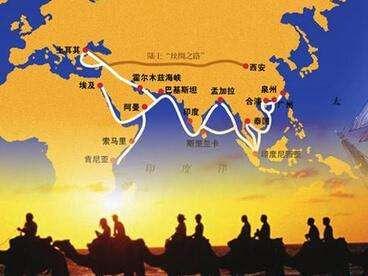 世界版图上的丝绸之路