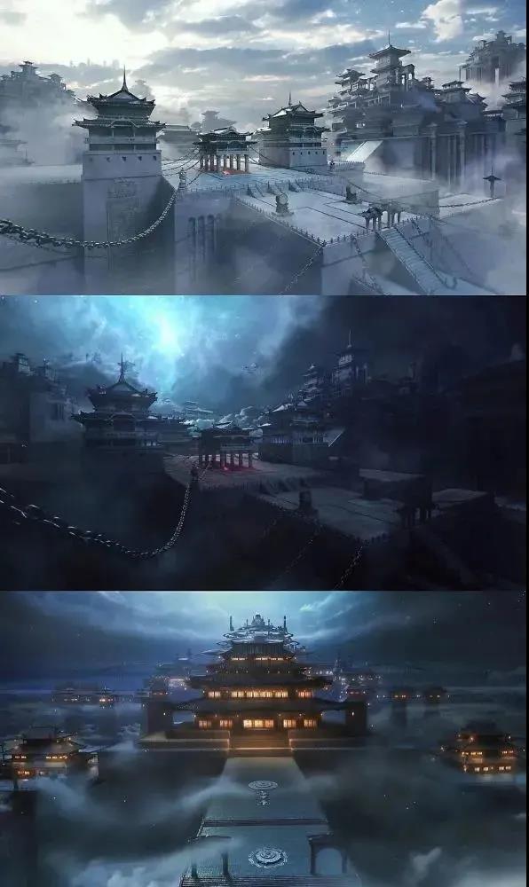 仙侠电视剧《千古玦尘》神界场景